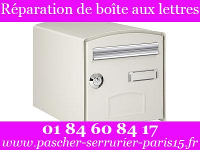 Tarif serrurier Paris 15 pour réparation de boite aux lettres