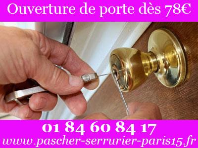 Ouverture de porte dès à 78€