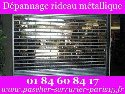 Dépannage serrurerie Paris 15 - dépannage rideau métallique