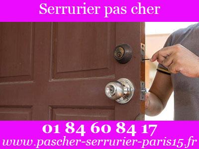 serrurier Paris 15 pas cher